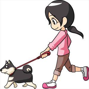 犬とウォーキング