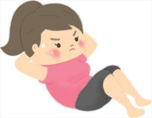 腹筋運動女性