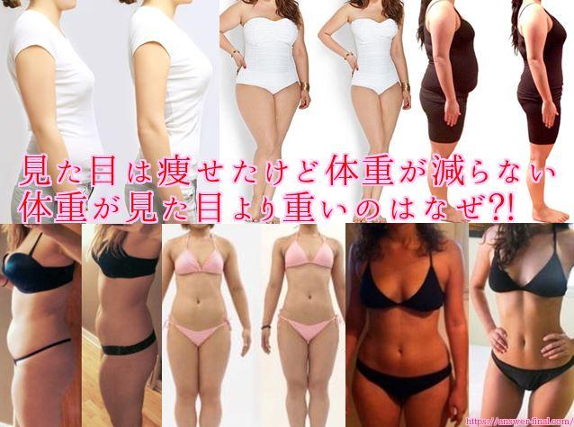 体重が見た目より重い