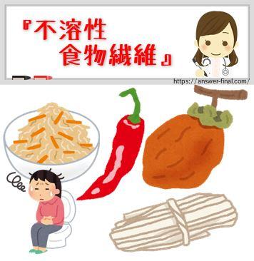 不溶性食物繊維の多い食品