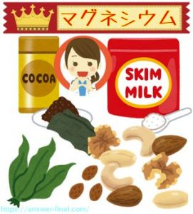 マグネシウムの多い食品
