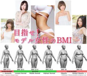 BMI女性モデル平均