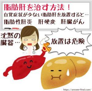 脂肪肝が治る運動や食事レシピ