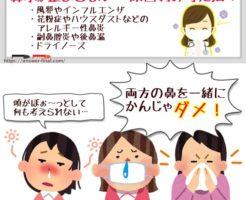 鼻水が止まらない原因別対処法