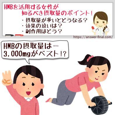 HMBを活用する女性が知るべき摂取量のポイント