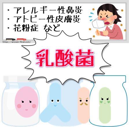 乳酸菌アレルギー
