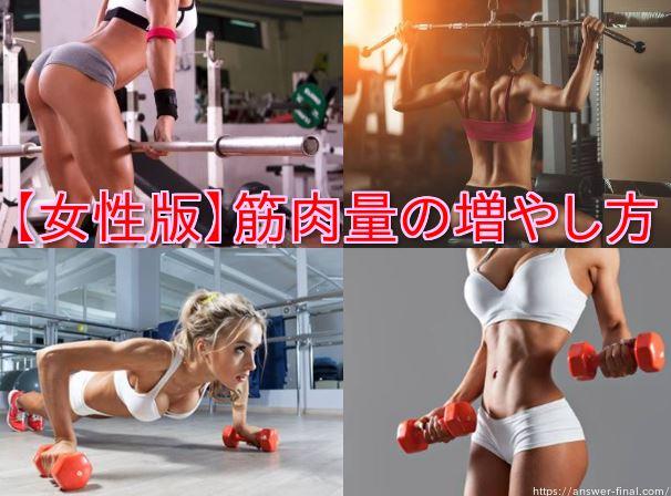 女性で筋肉量の増やし方